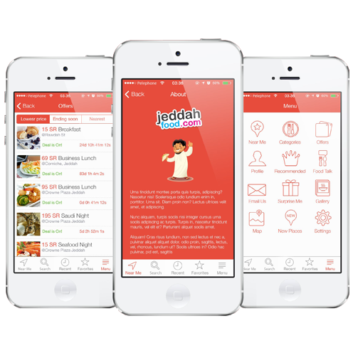 Jeddah Food Mobile Apps and Website