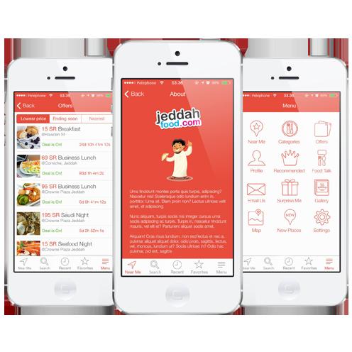 Jeddah Food Mobile Apps and Website